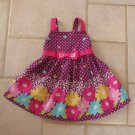 JESSICA ANN GIRL'S SIZE 12 mo. DRESS & PANTIES PURPLE & FUCHSIA SPRING FLOWER BOUTIQUE SUN