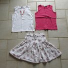 BUGLE BOY GIRL'S SZ 12 SKIRT, CHEROKEE 10/12 & COPPER KEY SZ 14  KNIT TOP 3 PIECE SET COUNTRY