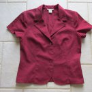 PERSISTENCE WOMEN'S SIZE 8 SUIT JACKET RED OFFICE CAREER TAILORED BLAZER STYLISH & SHARP SS