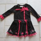 FLAPDOODLES GIRL'S SIZE 2 T TOP & SKIRT SET BLACK & RED CHRISTMAS HOLIDAY CHURCH 2 PC DRESS