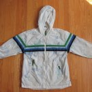 GAP KIDS BOY'S SIZE M 8 JACKET WHITE ATHLETIC COAT WARM UP HOODIE TRACK WIND BREAKER TIE DYED
