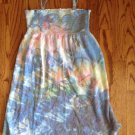 JUSTICE GIRL'S SIZE 10 DRESS MUTLI COLOR SMOCKED TERRY SWIM SUIT COVERUP BOHO SUN