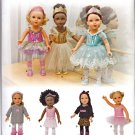 "SIMPLICITY 1243 AMERICAN GIRL 18"" DOLL CLOTHES PATTERN LEOTARD DANCE BALLET NEW"