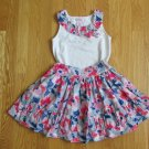 CLAIRE'S ROSE GIRL'S SIZE 6 X SHIRT & SKIRT SET RED, WHITE, & BLUE JULY 4 INDEPENDENCE DAY PATRIOTIC