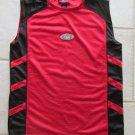 TEK GEAR BOY'S SIZE L 14 / 16 JERSEY RED &  BLACK REVERSIBLE ATHLETIC TANK TOP BASKETBALL SPORTS