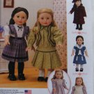 "SIMPLICITY 1179 AMERICAN GIRL 18"" DOLL CLOTHES PATTERN SAMANTHA KIRSTEN MOLLY HISTORICAL NEW"