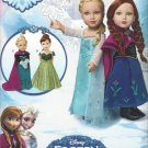 "SIMPLICITY 1217 AMERICAN GIRL 18"" DOLL CLOTHES PATTERN DISNEY FROZEN ANNA ELSA NEW"