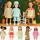 "SIMPLICITY 1136 AMERICAN GIRL 18"" DOLL CLOTHES PATTERN MODERN SPRING SUMMER DRESS, CAPRIS NEW"
