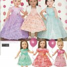 "SIMPLICITY 1135 AMERICAN GIRL 18"" DOLL CLOTHES PATTERN PARTY DRESS SHRUG, TIARA NEW UNCUT"