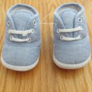 BOY'S SIZE NB SHOES LT. BLUE CHAMBRAY / OXFORD LACE UP NEW W/O TAG
