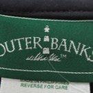OUTER BANKS MEN'S SIZE XL POLO TOP NAVY BLUE JERSEY SHIRT SLEEVELESS V NECK NWT