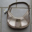 NINE WEST WOMEN'S, JUNIOR'S HAND BAG TAUPE GOLD FAUX SNAKE SKIN SMALL SIZE PURSE NEW