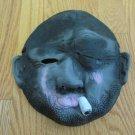 FACE MASK BALD SMOKING EYE PATCH BEARD STUBBLE CIGARETTE SMOKING UGLY SCARY NEW