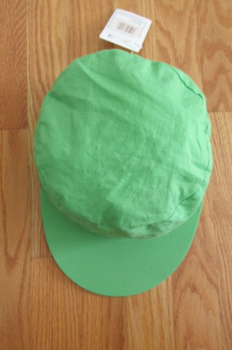 HIRSCHBERG SHUTZ ADULT SIZE 24 INCH CIRCUFERENCE LIME GREEN PAINTER'S CAP HAT UNISEX BOYS GIRLS