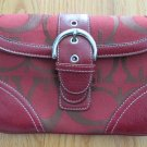WOMEN'S, JUNIOR'S, GIRL'S HAND BAG RED & BROWN SMALL SIZE PURSE CLASSIC PREPPY