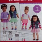 "SIMPLICITY 8041 AMERICAN GIRL 18"" DOLL CLOTHES PATTERN MODERN SKIRTS, TOPS, LEGGINGS, JACKET NEW"