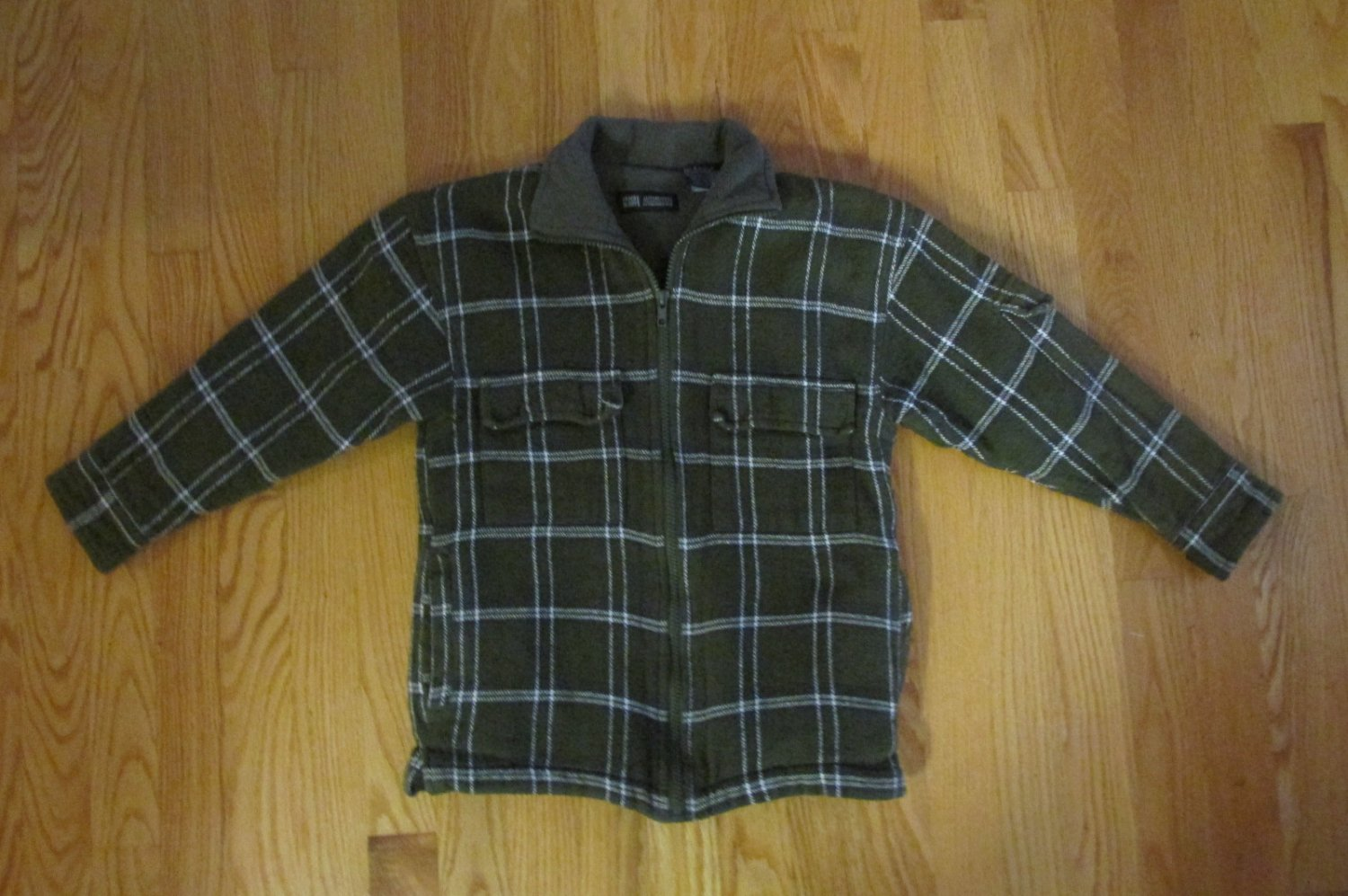 Faded Glory Boy S Size S 6 8 Jacket Green Plaid Flannel