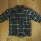 FADED GLORY BOY'S SIZE S 6-8 JACKET GREEN PLAID FLANNEL FLEECE LINED OUTERWEAR COUNTRY FARM COAT