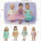 "SIMPLICITY 1485 AMERICAN GIRL 18"" DOLL CLOTHES PATTERN MODERN BALLET DRESS LEGGINGS NEW"