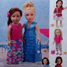 "SIMPLICITY 1178 AMERICAN GIRL 18"" DOLL CLOTHES PATTERN MODERN VACATION DRESS, TOP PANTS, SKIRT NEW"
