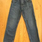 FADED GLORY BOY'S SIZE 28 x 28 1/2 JEANS BLUE BLACK WASH DENIM ADJUSTABLE WAIST