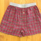 BASIC EQUIPMENT BOY'S SIZE L BOXER SHORTS 3 PAIR  RED, BLUE PLAID FLANNEL BUTTON FLY NWT
