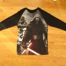 DISNEY STAR WARS MEN'S SIZE M T-SHIRT BLACK LONG SLEEVE FIFTH SON DARTH VADER GRAPHIC NWT