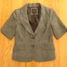 THE LIMITED WOMEN'S SIZE S SUIT JACKET BROWN SS BLAZER OFFICE CAREER