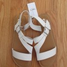 RUE 21 ETC. WOMEN'S SIZE S (6/7) SANDALS WHITE W/ BUCKLE FLATS SHOES NWT