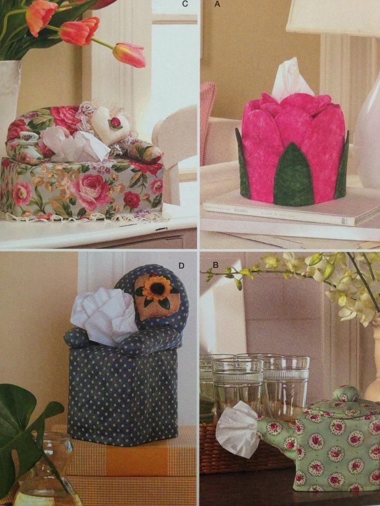 Simplicity 2928 Tissue Box Covers Couch Chair Teapot Tulip