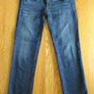 AMERICAN EAGLE WOMEN'S SIZE 2 CAPRI JEANS MED BLUE DENIM SUPER SKINNY ULTRA LOW CROPPED PANTS