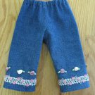 "AMERICAN GIRL 18"" DOLL CLOTHES DENIM BLUE JEANS NICKI, SAIGE, MOLLY, LIFE OF FAITH EMBELLISHED"