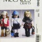 """McCALL'S 6480 AMERICAN GIRL 18"""" DOLL CLOTHES PATTERN NEW MODERN SKIRT, LEGGINGS, BOLERO"""