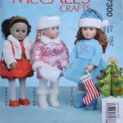 "McCALL'S 7300 AMERICAN GIRL 18"" DOLL CLOTHES PATTERN NEW WINTER CHRISTMAS HOLIDAY"