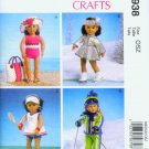 "McCALL'S 6938 AMERICAN GIRL 18"" DOLL CLOTHES PATTERN NEW OLYMPIC SPORTS TENNIS"
