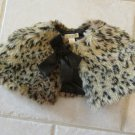 PLACE GIRL'S SIZE 6 - 9 mo FAUX FUR CAPELET BROWN LEOPARD ANIMAL CHIRISTMAS, HOLIDAY CLASSIC