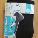 BLUE STAR WOMEN'S JUNIOR'S SIZE L / XL LEGGINGS BLACK FLEECE LINED TEXTURED LEGWEAR NIP