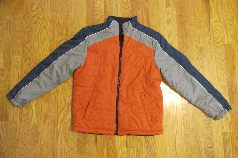 ARIZONA JEAN CO BOY'S SIZE XL (18-20) COAT ORANGE REVERSIBLE TO BROWN WINTER OUTERWEAR JACKET