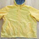TOTES MEN'S SIZE 5XL JACKET YELLOW GRAY FLEECE OUTERWEAR COAT HOOD WOMEN'S UNISEX