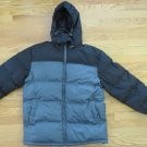 CANYON RIVER BLUES MEN'S SIZE S COAT GRAY & BLACK QUILTED PUFFER WINTER OUTERWEAR JACKET HOOD