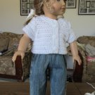 "AMERICAN GIRL 18"" DOLL CLOTHES DENIM BLUE JEANS BOY LOGAN, TENNEY SKINNY MODERN DISTRESSED NEW"