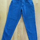 CHIC WOMEN'S 8 JUNIOR'S 13, SIZE 28 X 28 JEANS DARK BLUE DENIM VINTAGE HIGH WAIST MADE IN USA