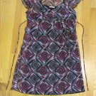 IZ BYER GIRL'S SIZE 16 DRESS BLACK, IVORY & FUCHSIA GEOMETRIC MINI TRENDY PARTY HOLIDAY