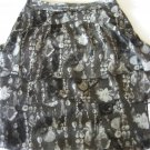 WORTHINGTON WOMEN'S SIZE 4 SKIRT GRAY & BLACK TIERED EXPOSED ZIPPER