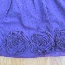 I.N. SAN FRANCISCO WOMEN'S JUNIOR'S SIZE 3 DRESS PURPLE DOTTED SWISS ROSETTES