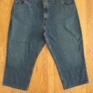 FADED GLORY MEN'S SIZE 50 X 25 JEANS MEDIUM BLUE DENIM RELAXED STRAIGHT WIDE LEG