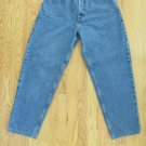 EDDIE BAUER WOMEN'S SIZE 10 SH JEANS MEDIUM BLUE STONE WASHED DENIM LOOSE FIT