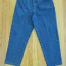 BILL BLASS WOMEN'S SIZE 10 SH JEANS DARK BLUE ASIAN DENIM TAPERED LEGS CLASSIC HIGH RISE WAIST MOM