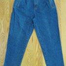 WESTPORT WOMEN'S SIZE 12 SH JEANS DARK BLUE STONE WASH DENIM HIGH WAIST MOM PLEATS 80'S TAPERED LEGS
