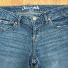 AEROPOSTALE WOMEN'S SIZE 0 SHORT JEANS MED BLUE SKINNY BAYLA DENIM JUNIORS TEENS